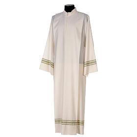 Alba 55% poliéster 45% lana rayas oro verdes s3