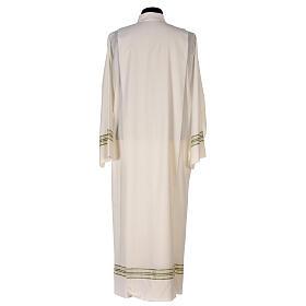 Alba 55% poliéster 45% lana rayas oro verdes s8