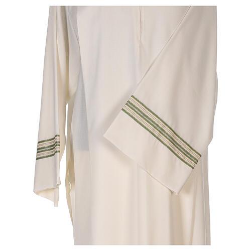 Alba 55% poliéster 45% lana rayas oro verdes 2