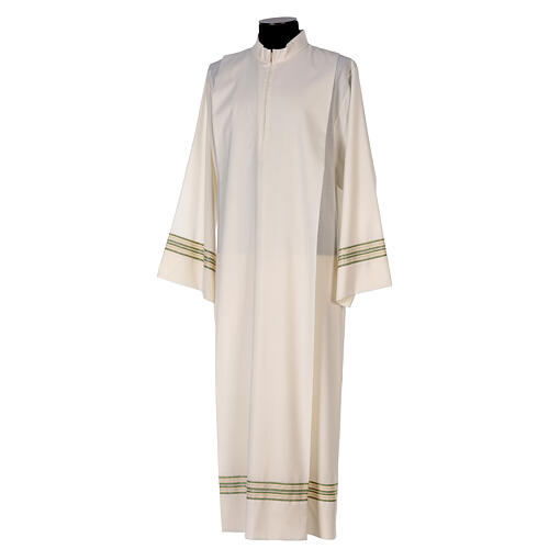 Alba 55% poliéster 45% lana rayas oro verdes 3