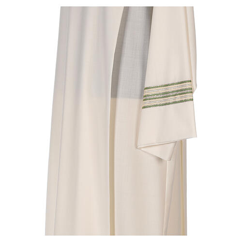 Alba 55% poliéster 45% lana rayas oro verdes 4