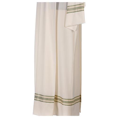 Alba 55% poliéster 45% lana rayas oro verdes 5