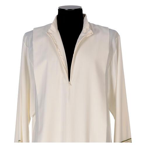Alba 55% poliéster 45% lana rayas oro verdes 6