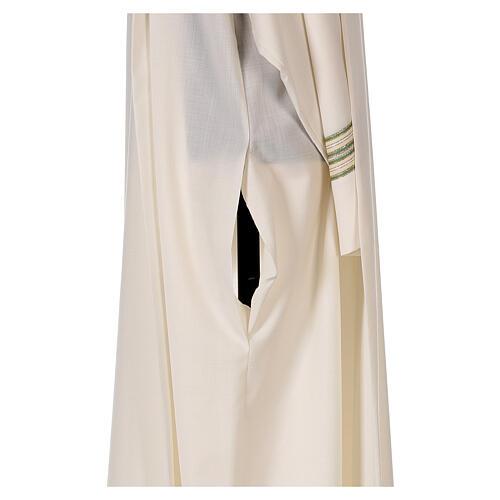 Alba 55% poliéster 45% lana rayas oro verdes 7