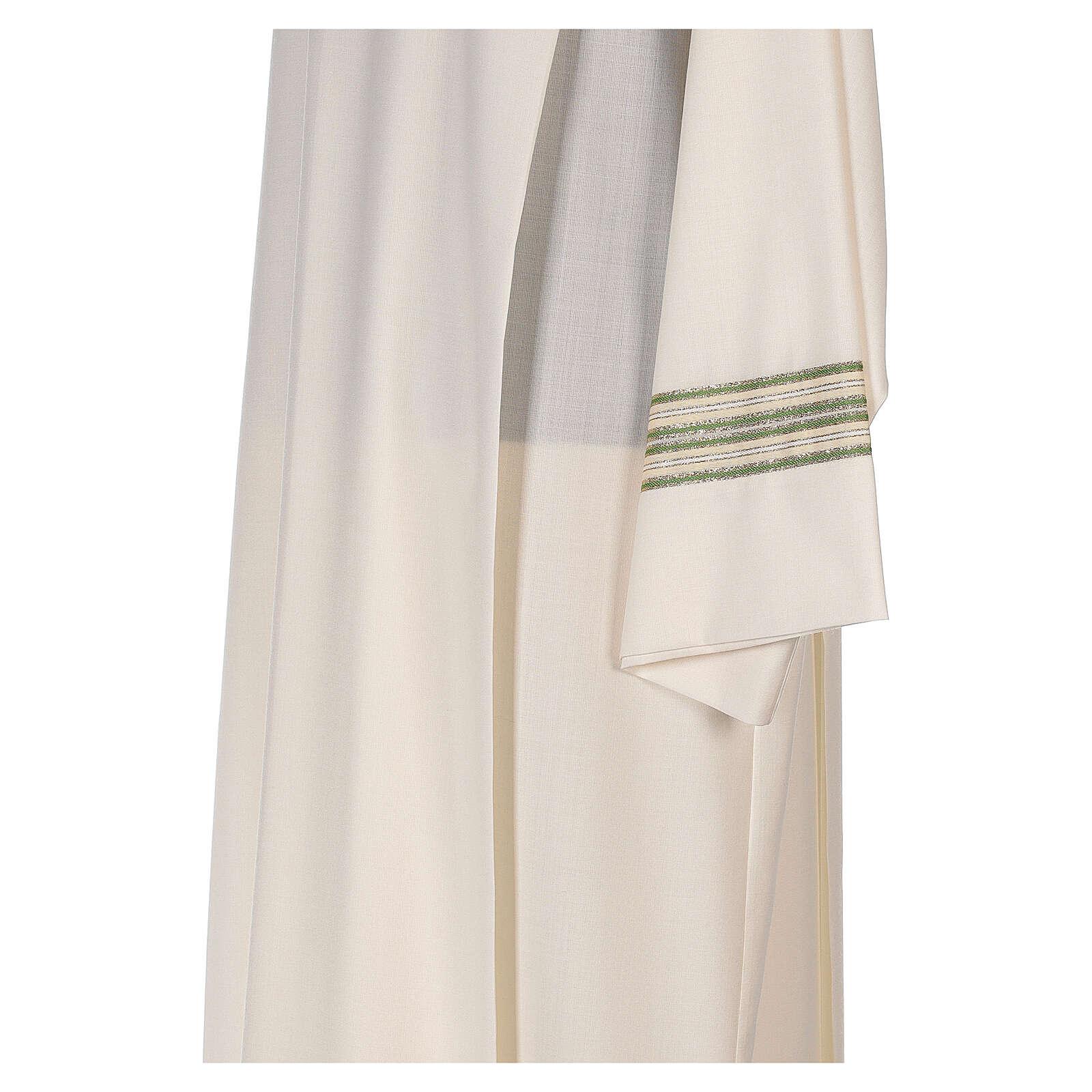 Aube 55% polyester 45% laine rayures or vert 4