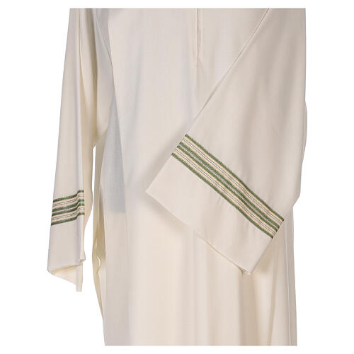 Aube 55% polyester 45% laine rayures or vert 2