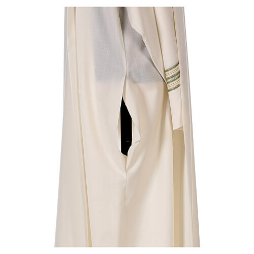 Aube 55% polyester 45% laine rayures or vert 7