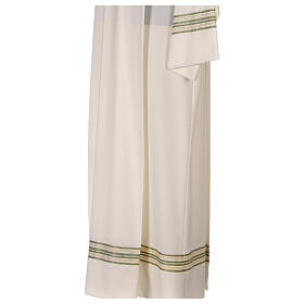 Alb 55% polyester 45% wool striped gold green s5
