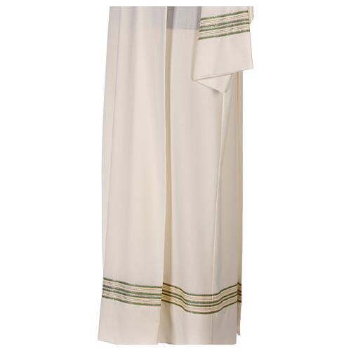 Alb 55% polyester 45% wool striped gold green 5