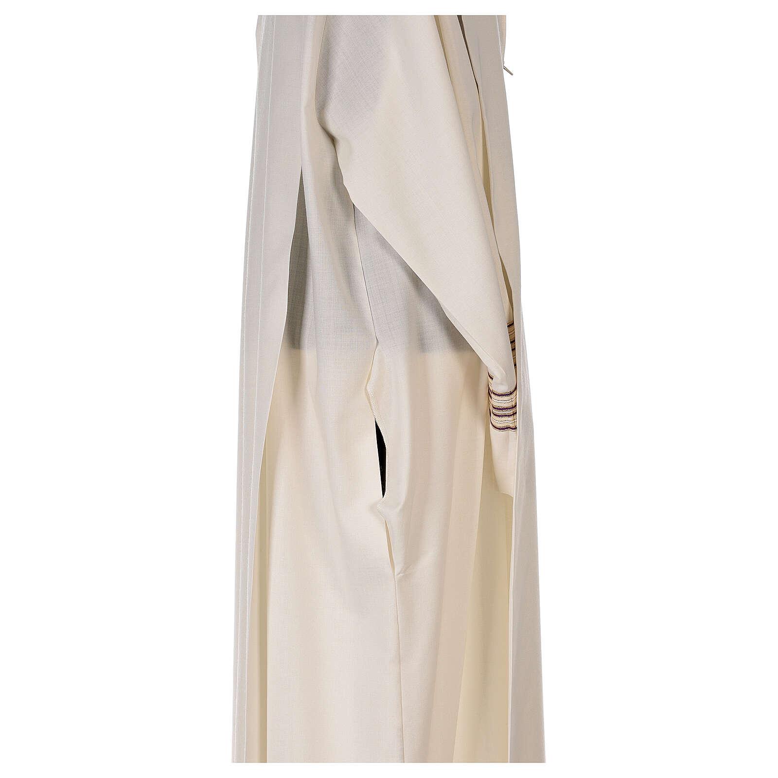Camice 55% poliestere 45% lana righe oro viola 4