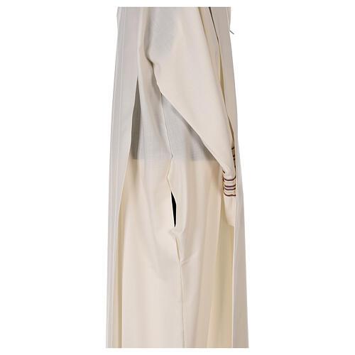 Camice 55% poliestere 45% lana righe oro viola 7
