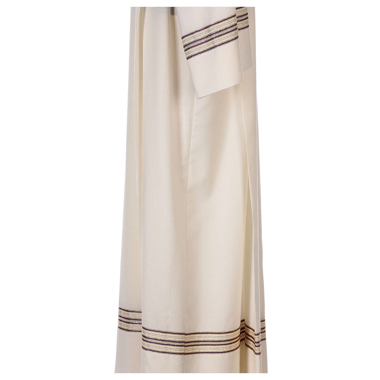 Alb 55% polyester 45% wool striped gold purple 4