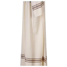 Alb 55% polyester 45% wool striped gold purple s5