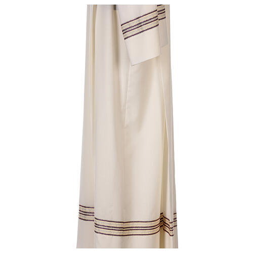 Alb 55% polyester 45% wool striped gold purple 5