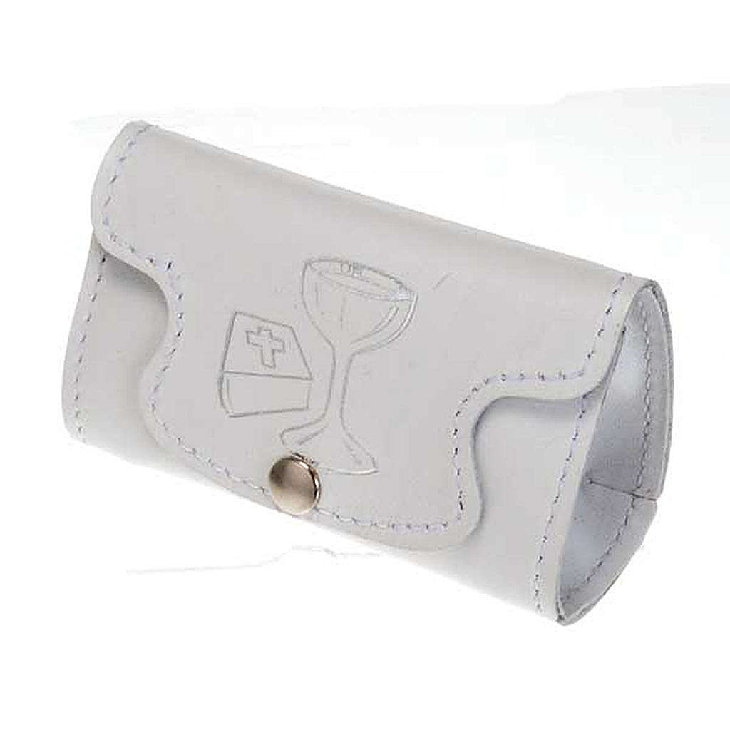 Rosary case in white leather, first holy communion 4
