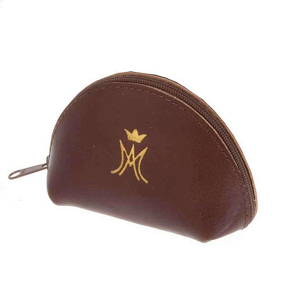 Portarosario pelle bustina con zip M mariana oro 4