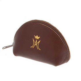 Portarosario pelle bustina con zip M mariana oro s2