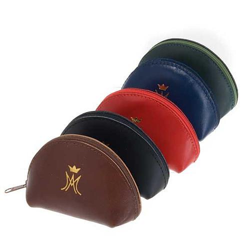 Portarosario pelle bustina con zip M mariana oro 1