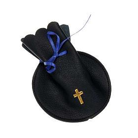 Golden cross rosary case s1