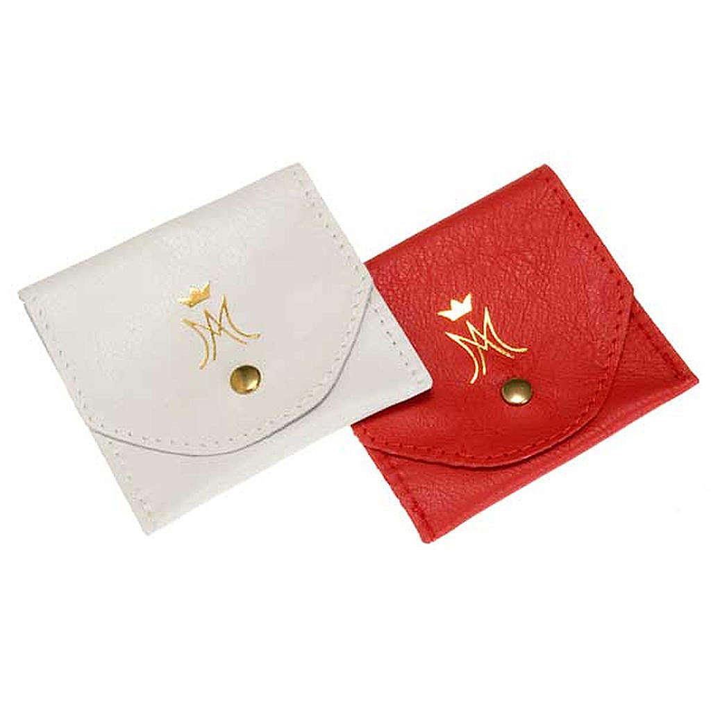 Porta rosario sobrecitio piel botón automático M d 4