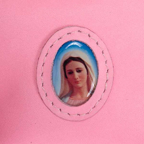 Rosary case with snap fastener, Medjugorje 3