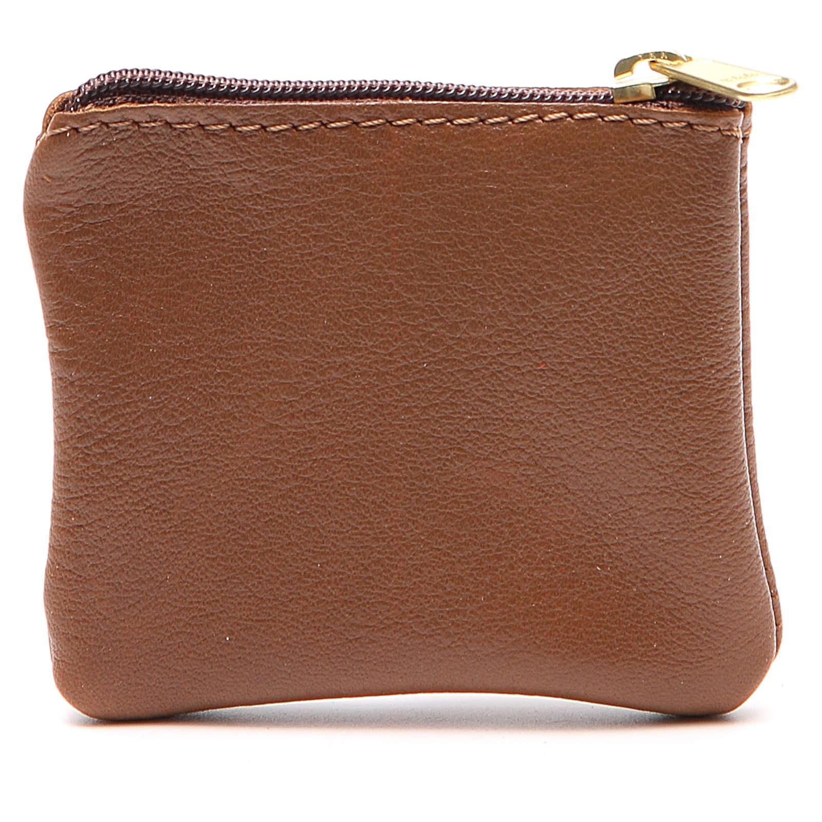 STOCK Portarosario borsello pelle marrone Giubileo 4