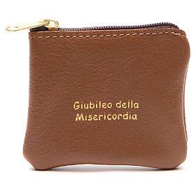 STOCK Portarosario borsello pelle marrone Giubileo s1
