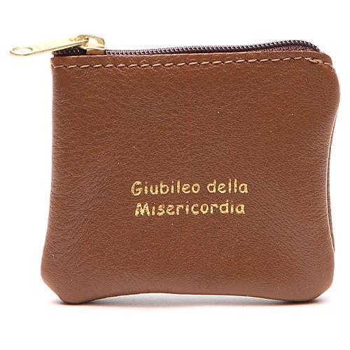 STOCK Portarosario borsello pelle marrone Giubileo 1