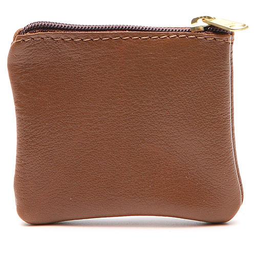 STOCK Portarosario borsello pelle marrone Giubileo 2