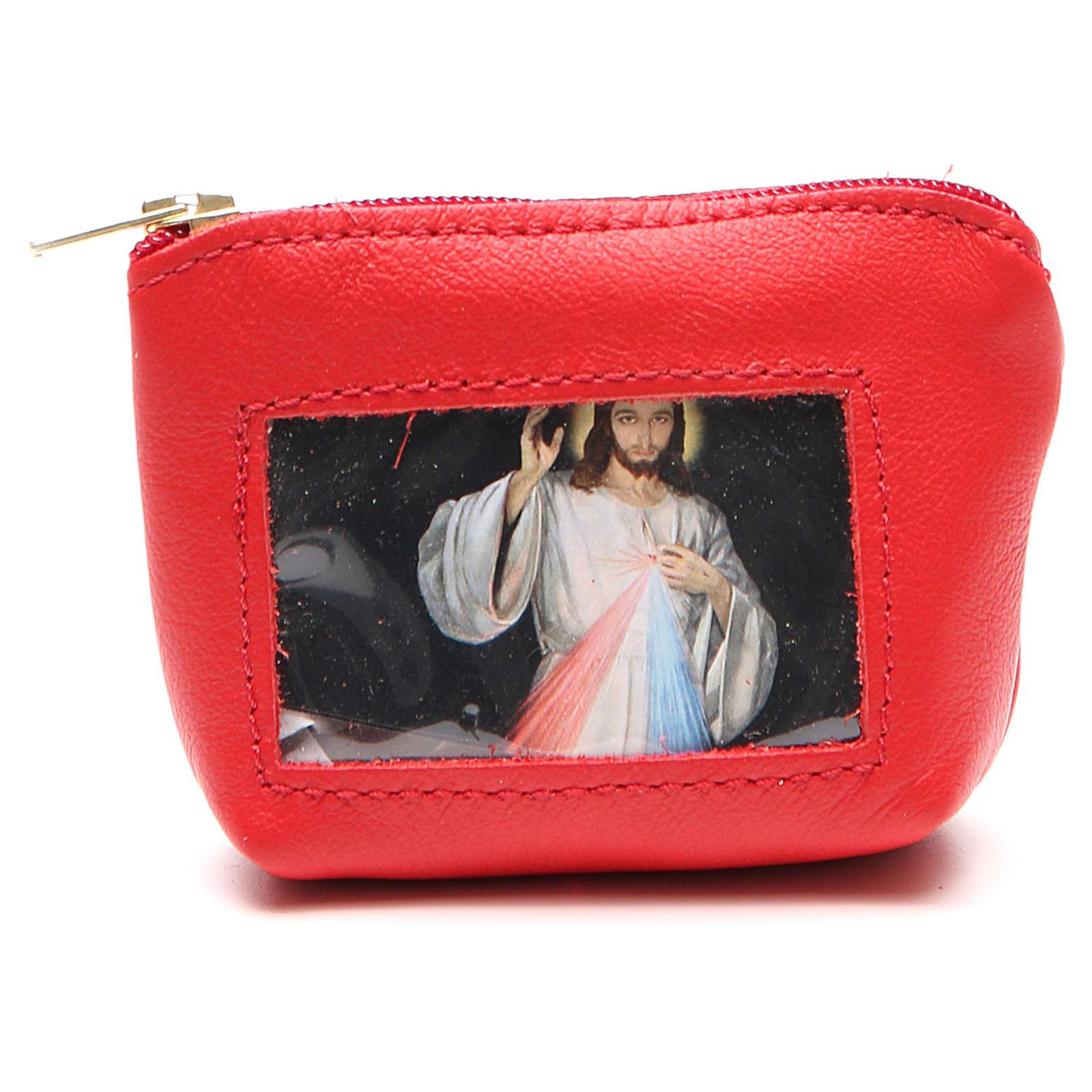 STOCK Portarosario borsetta pelle rossa Giubileo 4