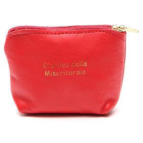 STOCK Portarosario borsetta pelle rossa Giubileo s1