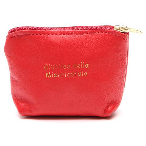 STOCK Portarosario borsetta pelle rossa Giubileo 1