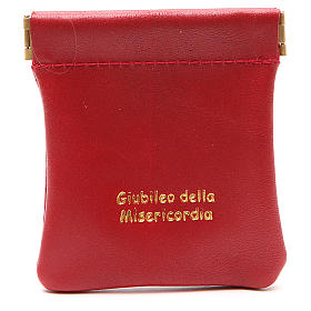 STOCK Rosary bag in red leather Jubilee of Mercy s1