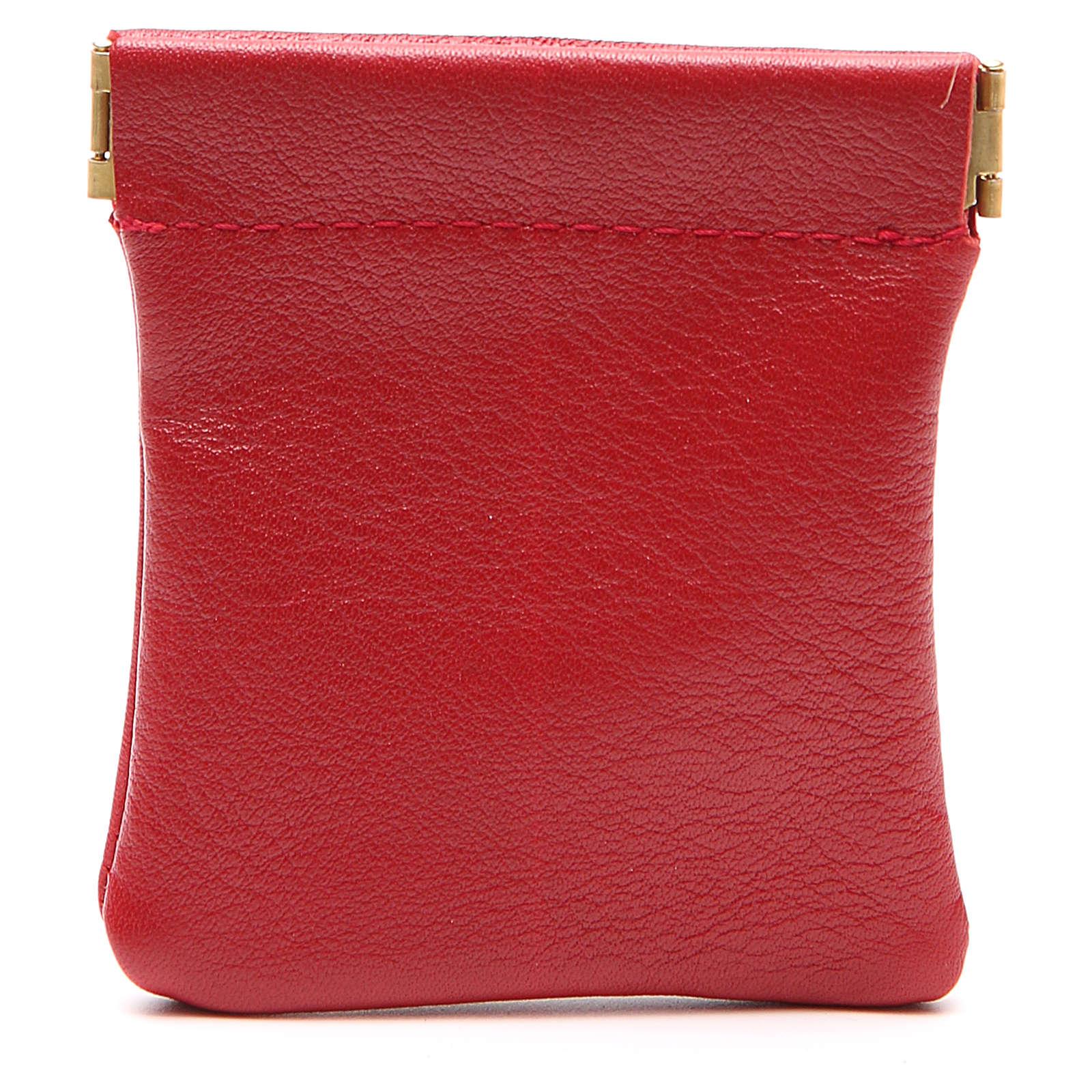 STOCK Portarosario de piel roja cierre clic-clac Jubileo 4