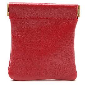 STOCK Portarosario de piel roja cierre clic-clac Jubileo s2