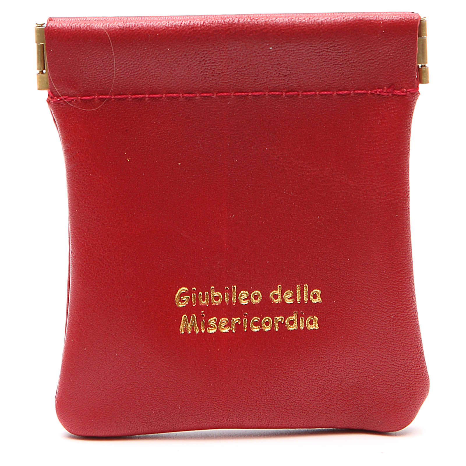 STOCK Rosary bag in red leather Jubilee of Mercy 4