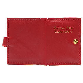 STOCK Portarosario bottone pelle rossa Giubileo s3