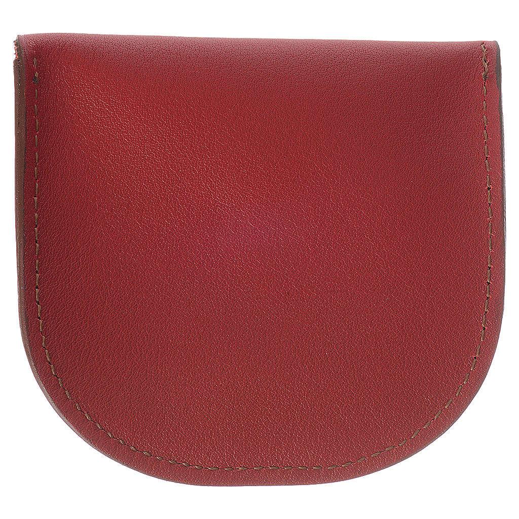 Portarosario pelle rossa Monaci di Betlèem 4