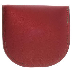 Portarosario pelle rossa Monaci di Betlèem s3