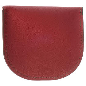 Portarosario pelle rossa Monaci di Betlèem s2