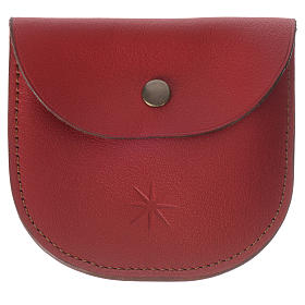 Rosary beads case in red leather, Monks of Bethlèem s4