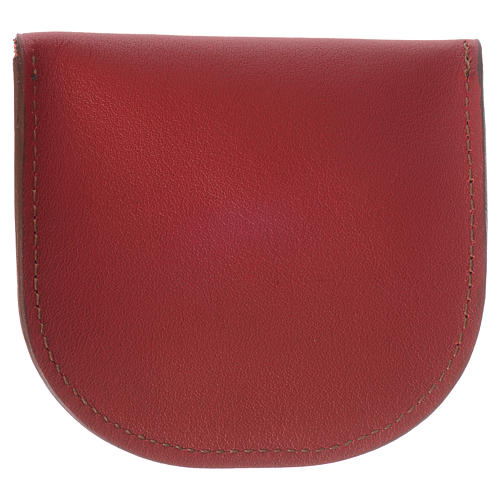 Rosary beads case in red leather, Monks of Bethlèem 3