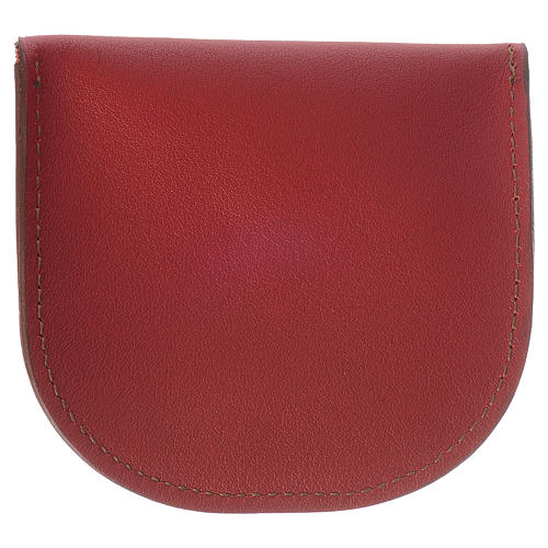 Rosary beads case in red leather, Monks of Bethlèem 2