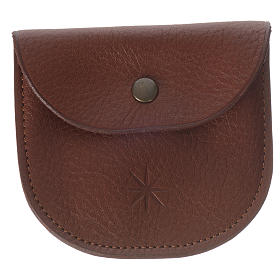 Rosary beads case in brown leather, Monks of Bethlèem s1