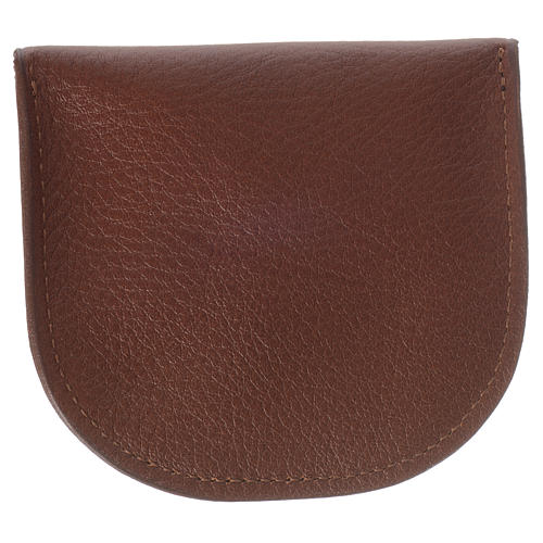 Rosary beads case in brown leather, Monks of Bethlèem 2