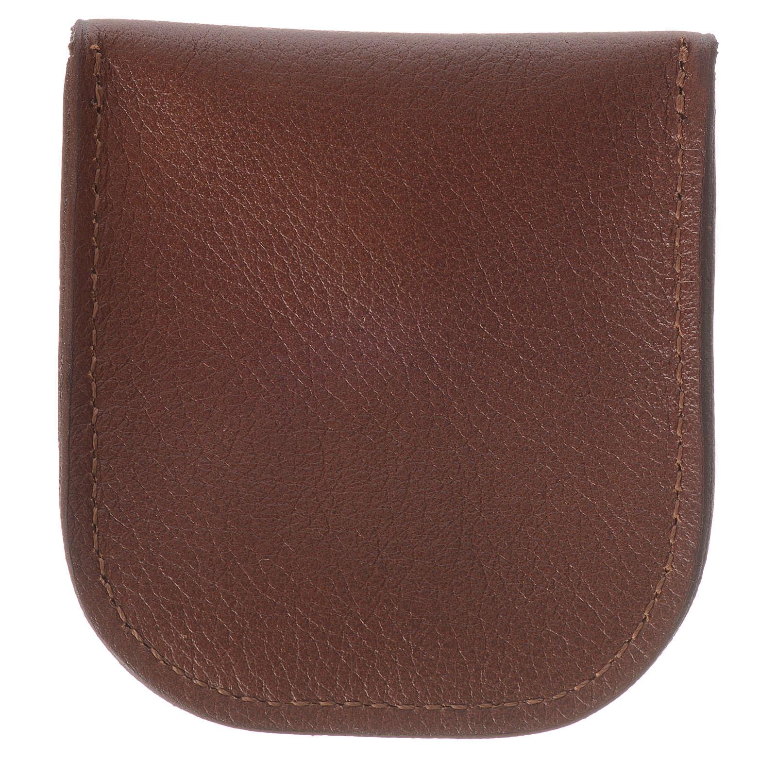 Étui dizainier cuir brun Moines de Bethléem 4