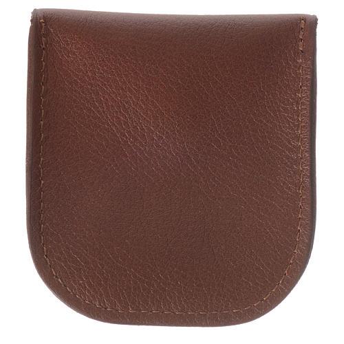 Étui dizainier cuir brun Moines de Bethléem 2