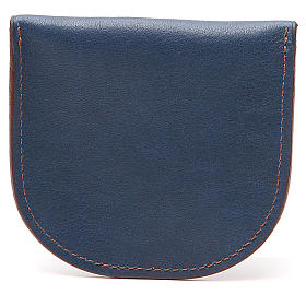 Rosary beads case in blue leather, Monks of Bethlèem s2