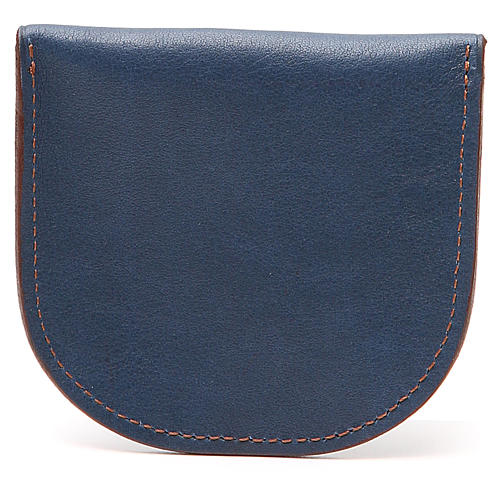Rosary beads case in blue leather, Monks of Bethlèem 2