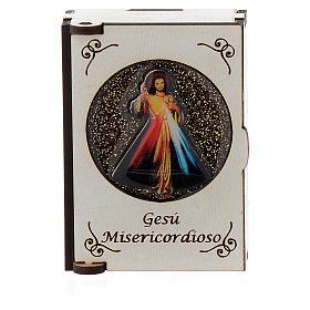 Portarosario de madera grabado láser Divina Misericordia s1